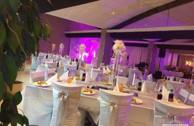 Bröllopsdekoration Pardis restaurang i Göteborg